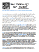 PRINT RegIV Math Ten Helpful Resources for Middle School and High School Math Teachers.pdf